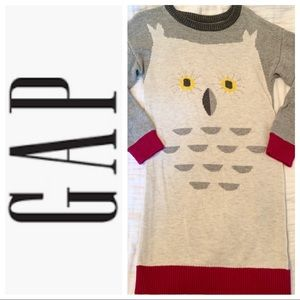 Gap Owl Sweater Dress